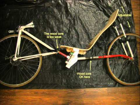 Homemade python recumbent bicycle - failed project