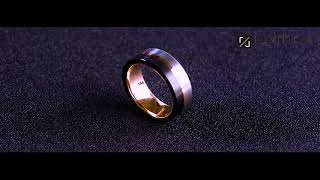Luxffield Tungsten Carbide Ring Wedding Band For Men 8mm Rose Gold Line Brushed Inlay Comfort Fit