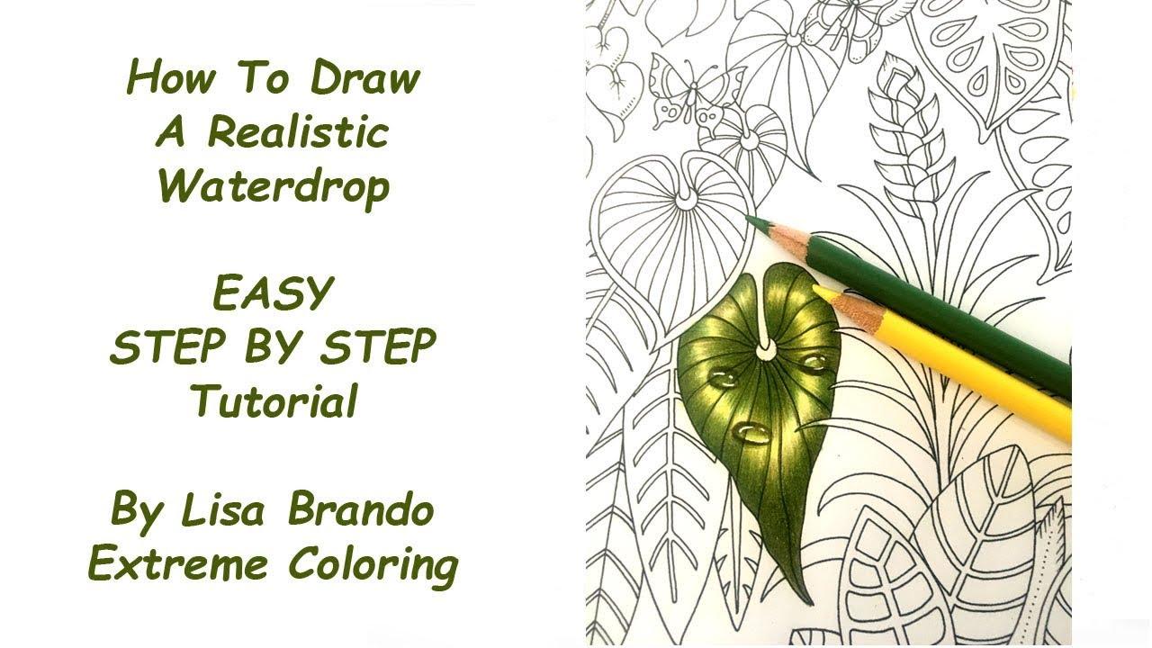 How I Color A Leaf With Drops - Magical Jungle Coloring Book: Lisa ...