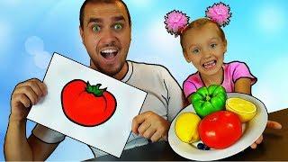 Aprende colores con frutas y verduras con pintura corporal infantiles canciones para niños