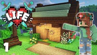 X Life: My First Modded Minecraft Starter House | Episode 1