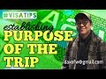 How to Establish Purpose of Your Trip | Usapang Visa Application | Tips and Guides | daxofw
