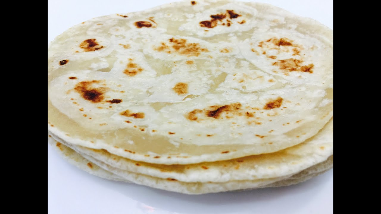 Soft Homemade Tortillas in Gujarati with Raihana\'s Cuisines - YouTube
