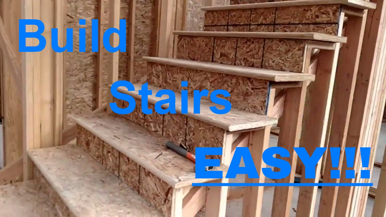 Building stairs made easy! Framing, rough carpentry. - YouTube