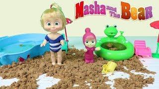 Maşa Türkçe Konuşan Bebek Kinetik Kum İle Çocuk Oyunu Oynuyor