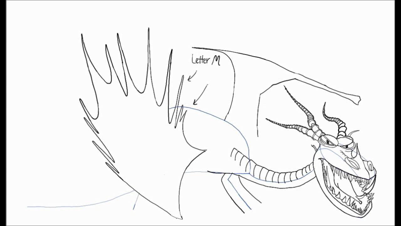 How to Draw HookFang Dragon from How to Train Your Dragon and How