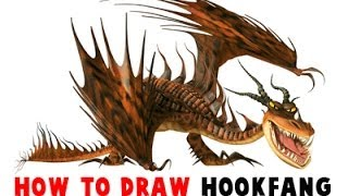 How to Draw HookFang Dragon from How to Train Your Dragon and How to Train Your Dragon 2
