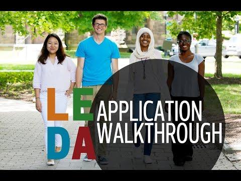 LEDA Application Walkthrough