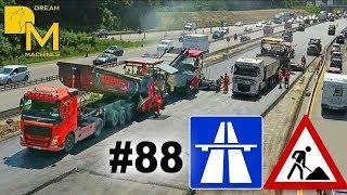 MEGA AUTOBAHN BAUSTELLE DOKU #88 ASPHALT STRASSENBAU / HIGHWAY CONSTRUCTION