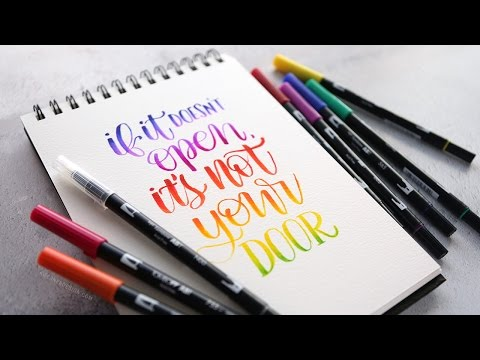 More Brush Lettering Blending with Tombow Markers (Answers to your questions)