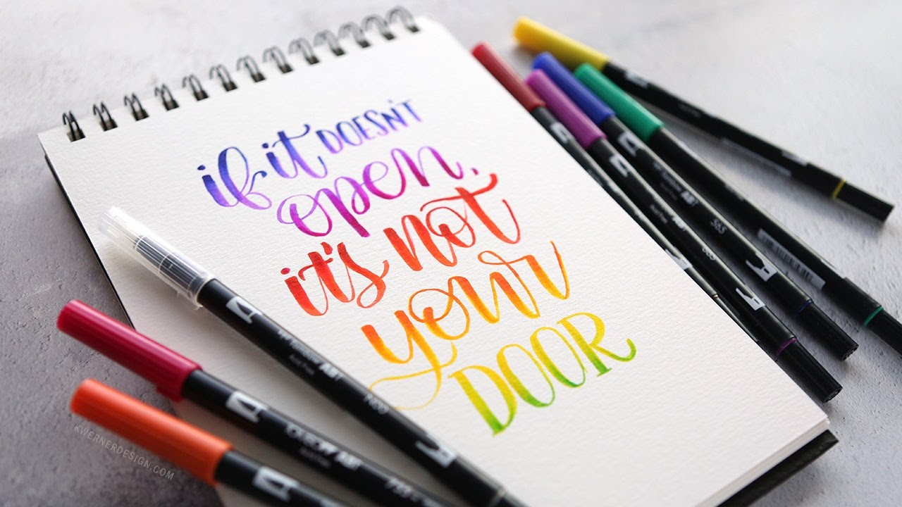 More Brush Lettering Blending with Tombow Markers (Answers ...