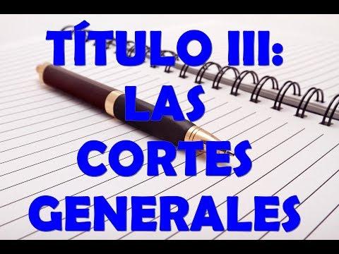 TÍTULO III: LAS CORTES GENERALES