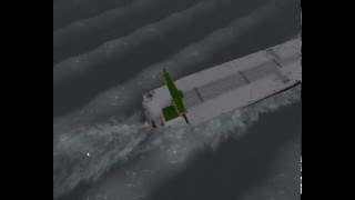 How ships behave in 15.4m wave in ship simulator 2008?