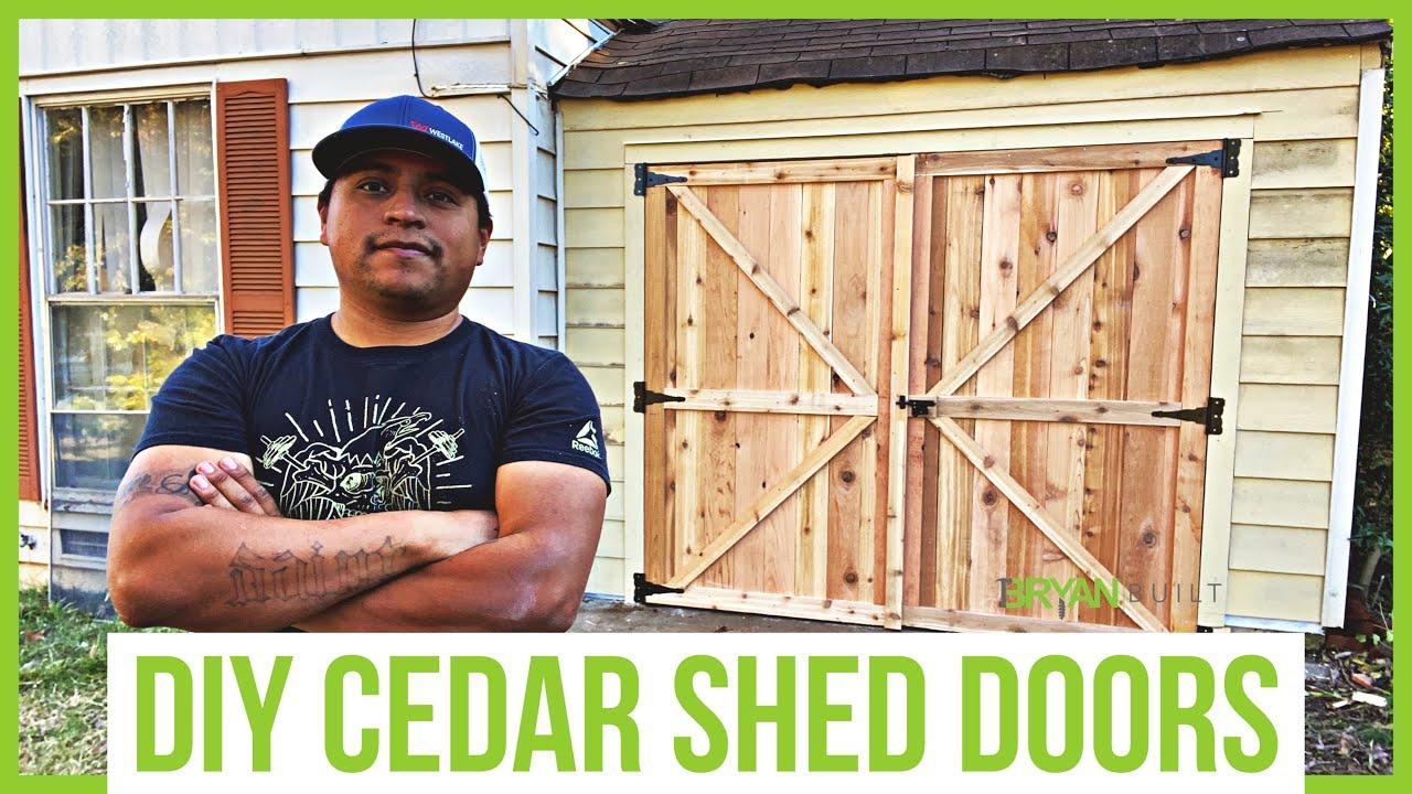 DIY Cedar Shed Door   DIY Shed Door Ideas   DIY Barn Door Garage Door    Bryan Built Reno Part 20
