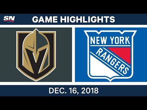 NHL Highlights | Golden Knights vs. Rangers - Dec 16, 2018