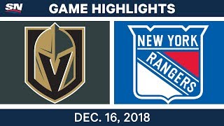 NHL Highlights | Golden Knights vs. Rangers - Dec 16, 2018