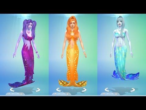 Dazzlings превращаются в русалок - The Sims 4