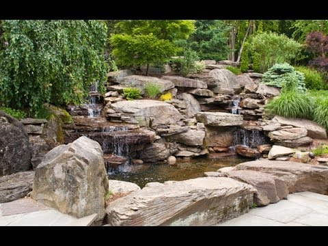 Pond waterfalls stream garden landscaping and outdoor