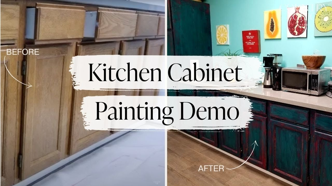 Kitchen Cabinet Restoration Demo Painting Kitchen Cabinetry With Chalk Style Furniture Paint Youtube