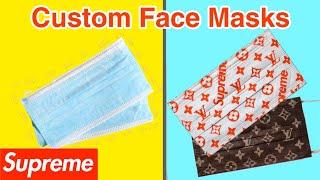 Custom Face Masks / Louis Vuitton X Supreme (winner) How To Custom Face Mask (tutorial) No Sew