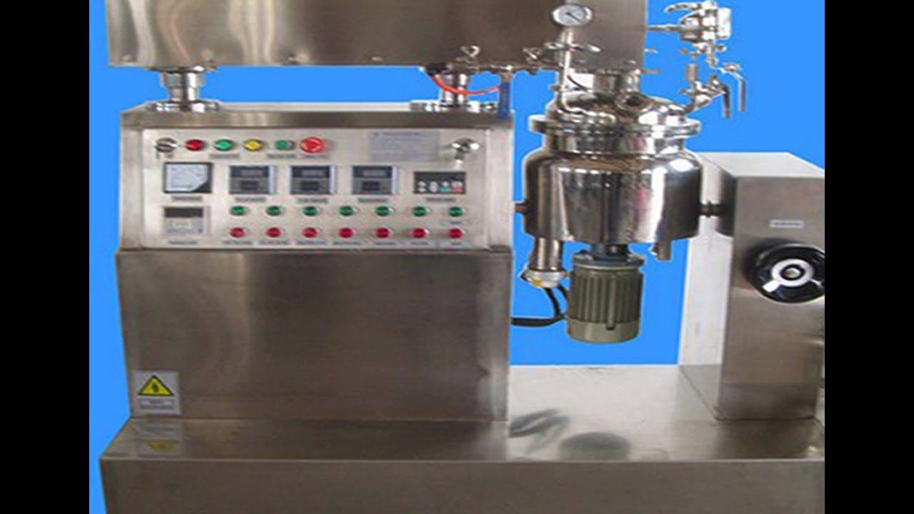 small Lab cream vacuum emulsifying mixer 10L Cream manufacturing machine  Vakuummischer fuer Sahne