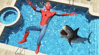 GTA 5 Epic Spiderman water ragdolls vol.2 (Euphoria physics)