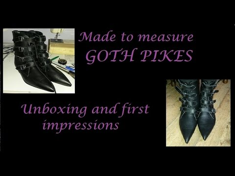 Made to measure Goth Pikes - unboxing and first impressions