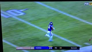 FINAL PLAY IN THE VIKINGS VS SAINTS!!! AMAZING CATCH BY STEFON DIGGIS thumbnail