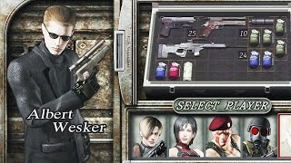 Resident Evil 4 (PS4 1080p 60fps) - The Mercenaries - Albert Wesker (All Stages)