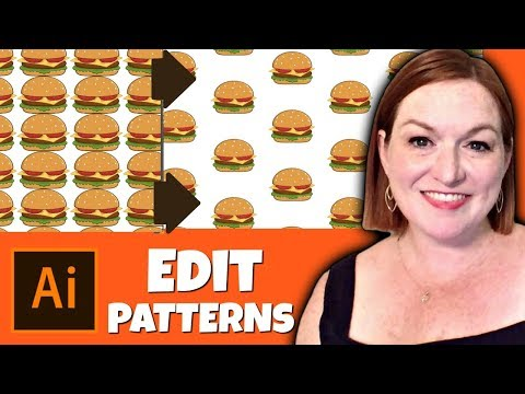 How to Edit a Repeating Pattern in Illustrator 2019 - Create a Seamless Pattern in Adobe Illustrator
