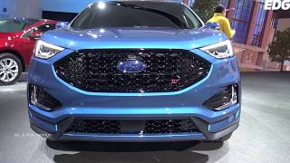2019 Ford Edge ST - Exterior And interior Walkaround - 2018 Detroit Auto Show