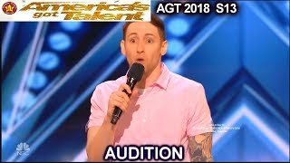 Samuel J. Comroe Comedian with Tourette Syndrome He is Funny  America's Got Talent 2018 Audition AGT
