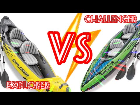 INTEX CHALLENGER AND EXPLORER K2 INFLATABLE KAYAK SETUP, REVIEW & USE! Watch before buying!