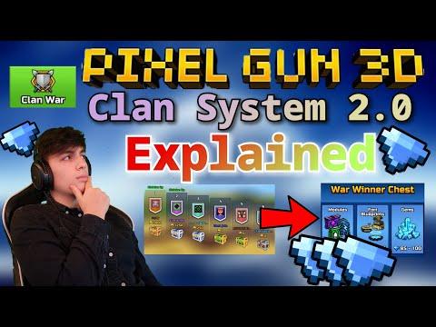 *NEW* Pixel Gun 3D Clan War System Explained! + Gameplay! | Pixel Gun 3D