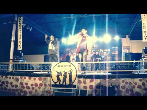 Notorious Sam freestyling LIVE at Arunachal Rap Riot 2015 | Feyago | Fat Riot Muskets