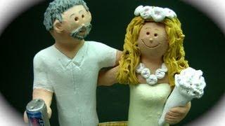 Hawaiian Destination Wedding Cake Topper