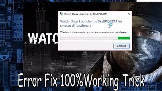 How to fix WATCH DOGS SKY BP@3DM error on Windows - Videourl de