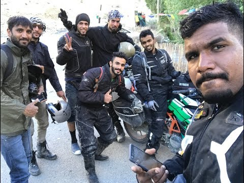 Landslide at pangong , dangerous road on leh-ladakh trip , pune stuntech , born to ride