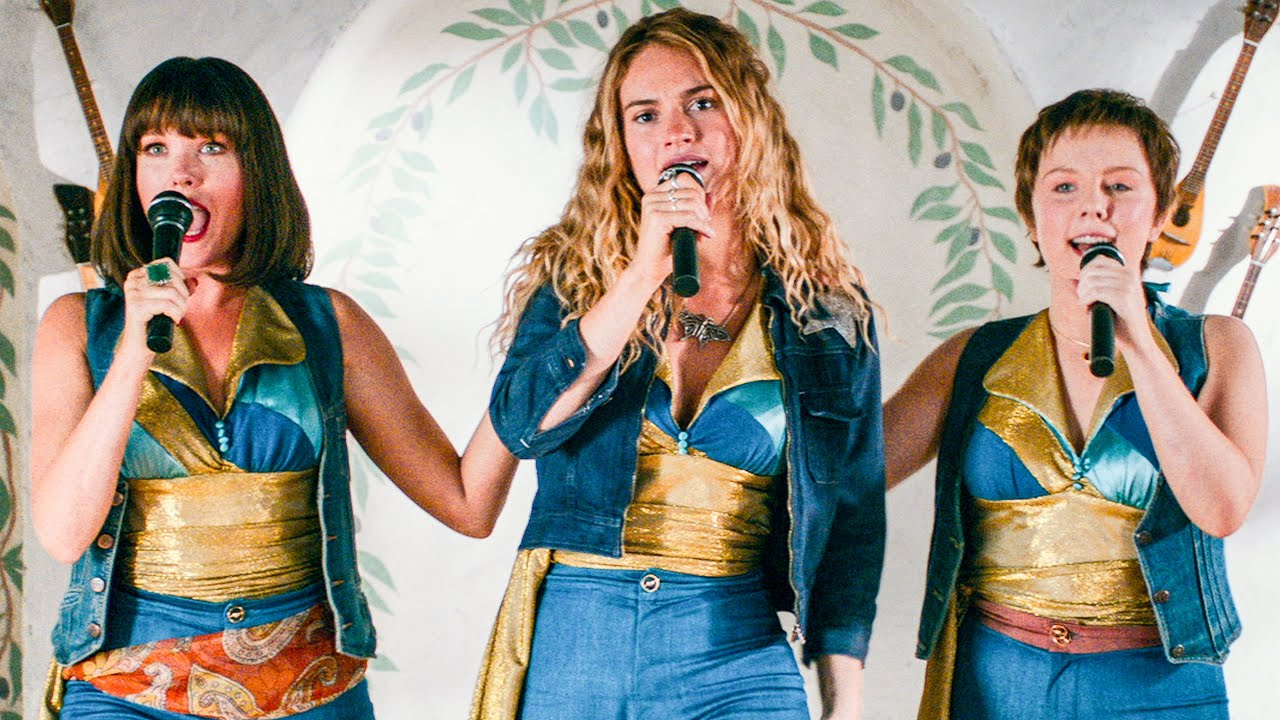Lily James Sings Mamma Mia Song Scene Mamma Mia 2 2018 Movie Clip Youtube