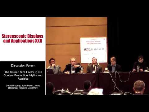 Discussion Forum 2 -- The Screen Size Factor in 3D Content Production: Myths and Realities