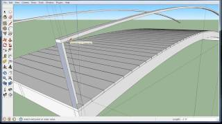Build A Wooden Arch Bridge In Google Sketchup