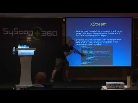 SyScan360'16 Singapore:  Remote code execution via Java native deserialization