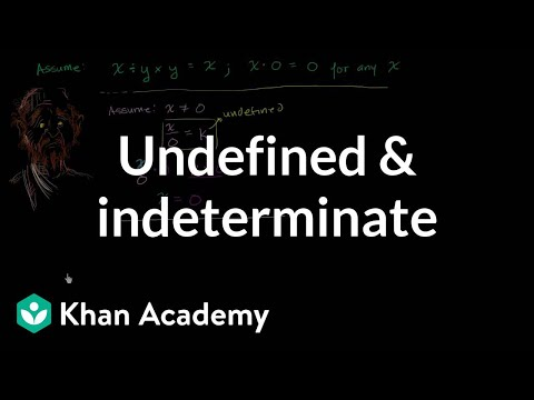 Undefined and indeterminate  Functions and their graphs  Algebra II  Khan Academy