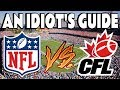 The NFL vs The CFL - An Idiot's Guide Of Simple Differences