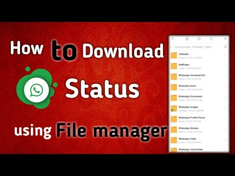 How to download Whatsapp status using file manager in Tamil