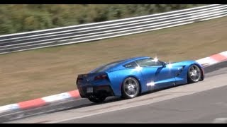 Chevrolet Corvette C7 & 2014 Camaro Z28 tested on the Nürburgring!