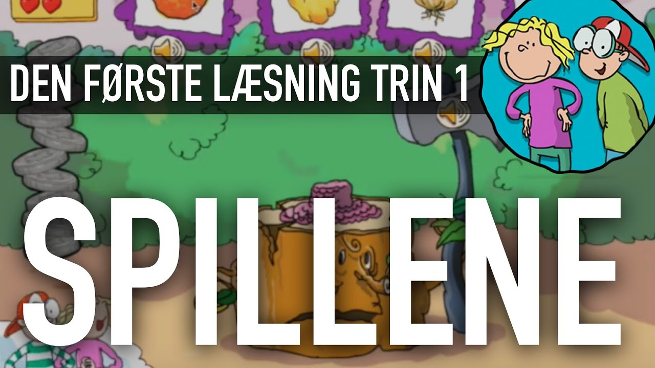 Den første læsning Trin 1 - Sådan bruger du spillene