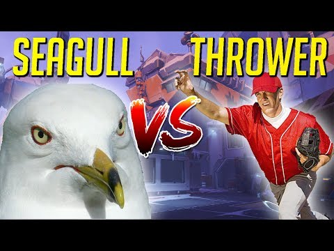 SEAGULL TEACHES PATHETIC THROWER A LESSON! - Overwatch VOD