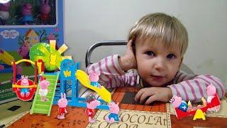 Игровой набор Свинка Пеппа - Детская Площадка  Алина играет со свинкой Пеппой