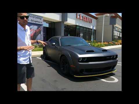 Matte Dark Grey Challenger Hellcat Red Eye